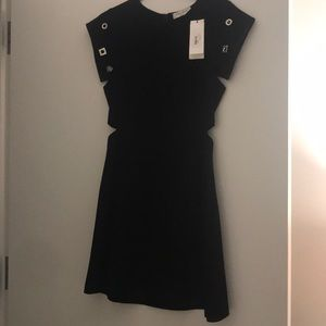 NWT Sandro Paris Cutout Dress with Silver Grommet